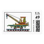 Train Crane Car Maintenance Car Railroad Stamps