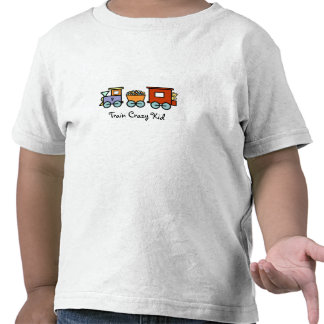 Train Crazy Kid Shirt - Gumballs and Bear Caboose