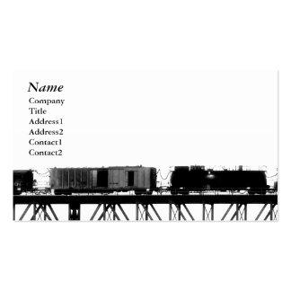 Train crossing Bridge black&white - Business Cards