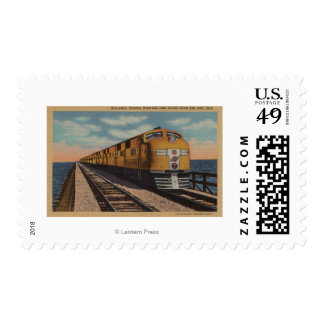 Train- Crossing Great Salt Lake, Ogden, Utah Postage