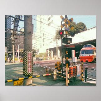 Train Crossing Japan Poster