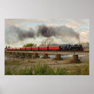 Train Crossing Otaki River Poster