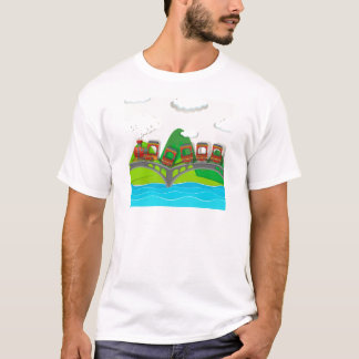 Train crossing over the bridge T-Shirt