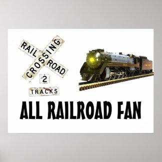 Train Crossing Poster