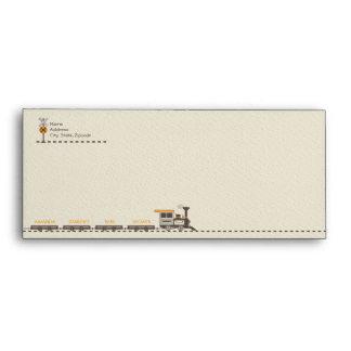 Train Custom Envelope - Baby Shower