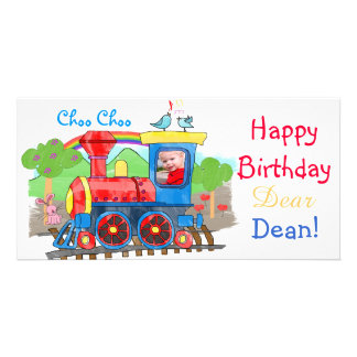 Train - Cute kids steam train photo card