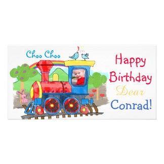 Train - Cute kids steam train photo card