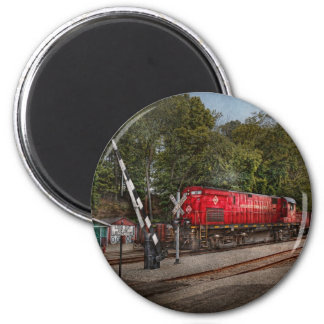 Train - Diesel - Look out for the Locomotive 2 Inch Round Magnet