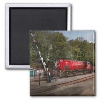 Train - Diesel - Look out for the Locomotive 2 Inch Square Magnet
