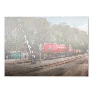 Train - Diesel - Look out for the Locomotive 5x7 Paper Invitation Card