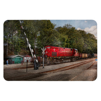 Train - Diesel - Look out for the Locomotive Rectangular Photo Magnet