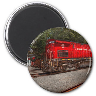 Train - Diesel - Morristown Erie 2 Inch Round Magnet