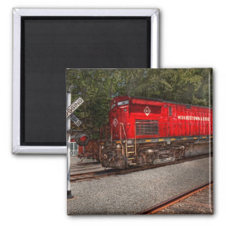 Train - Diesel - Morristown Erie 2 Inch Square Magnet