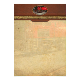 Train - Diesel - Morristown Erie 5x7 Paper Invitation Card