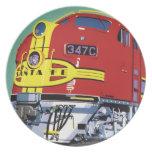 Train Dinner Plates