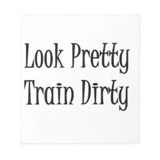Train dirty-black memo notepad