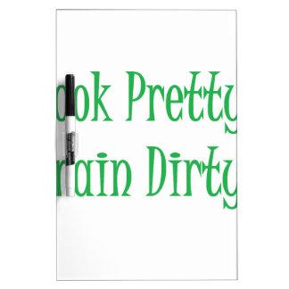 Train Dirty- green Dry Erase Board