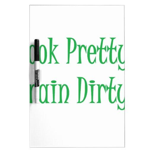 Train Dirty- green Dry Erase Whiteboard