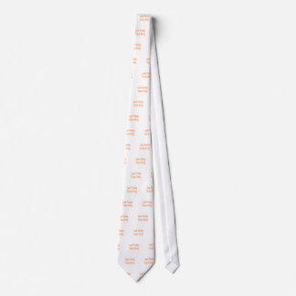 Train dirty- orange neck tie