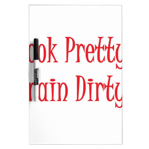 Train dirty- red Dry-Erase board