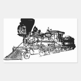Train Drawing Design Rectangular Stickers