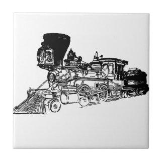 Train Drawing Design Ceramic Tiles