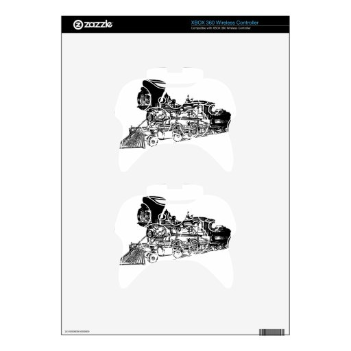 train drawing design xbox 360 controller decal