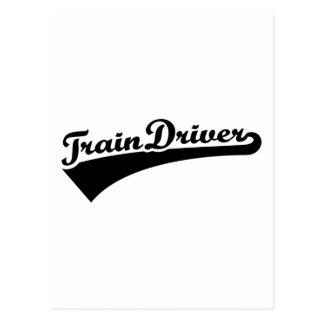 Train driver postcard