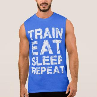 Train Eat Sleep Repeat Sleeveless T-shirts