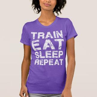 Train Eat Sleep Repeat Tshirts