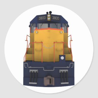 Train Engine: Chesapeake Color Scheme: Classic Round Sticker