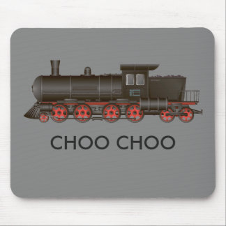 Train Engine Choo Choo or Customize Text Mouse Pad