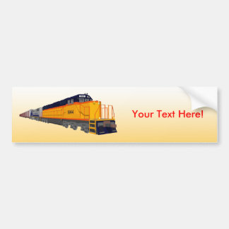 Train Engine: Classic Color Scheme: Bumper Sticker