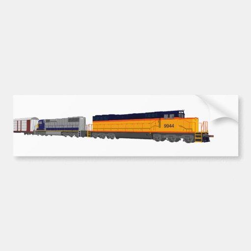 Train Engine: Classic Color Scheme: Car Bumper Sticker