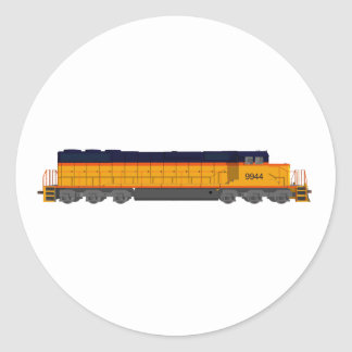 Train Engine: Classic Color Scheme: Classic Round Sticker