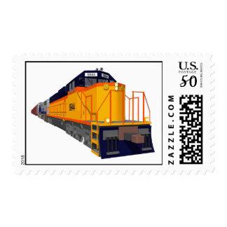 Train Engine: Classic Color Scheme: Custom Postage