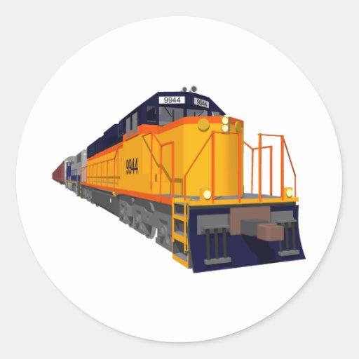 Train Engine: Classic Color Scheme: Classic Round Sticker