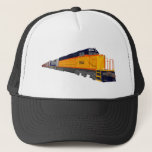 """Train Engine: Classic Color Scheme: Trucker Hat<br><div class=""""desc"""">The Artwork featured on this product was created with 3D Modeling Software,  and Photoshop. Artwork by: Brady Arnold.</div>"""