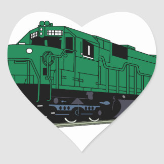 Train Engine Heart Sticker
