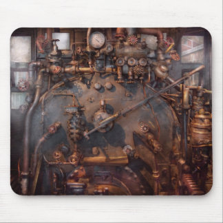 Train - Engine - Hot under the collar Mouse Pad