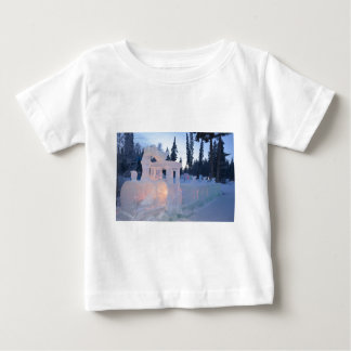 train engine Ice sculpture winter frozen snow art Baby T-Shirt