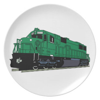 Train Engine Melamine Plate
