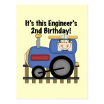 Train Engineer 2nd Birthday Tshirts and Gifts Post Card