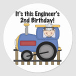 Train Engineer 2nd Birthday Tshirts and Gifts Stickers