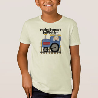 Train Engineer 3rd Birthday Tshirts and Gifts