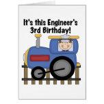 Train Engineer 3rd Birthday Tshirts and Gifts Card