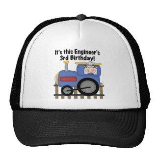 Train Engineer 3rd Birthday Tshirts and Gifts Trucker Hats