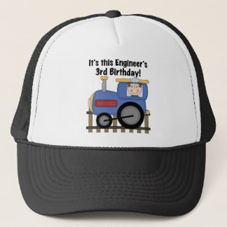 Train Engineer 3rd Birthday Tshirts and Gifts Trucker Hat