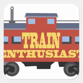 Train Enthusiast Square Sticker