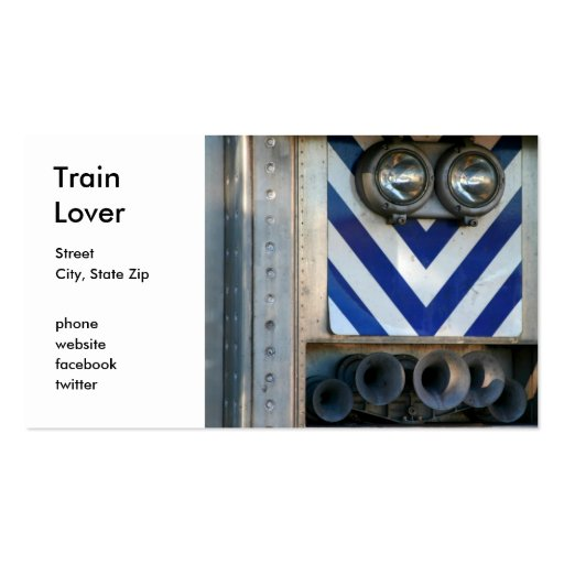 Train Face Business Card